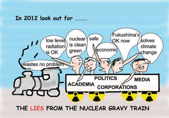 TELL US ABOUT THE NUCLEAR GRAVY TRAIN, AND WHAT YO