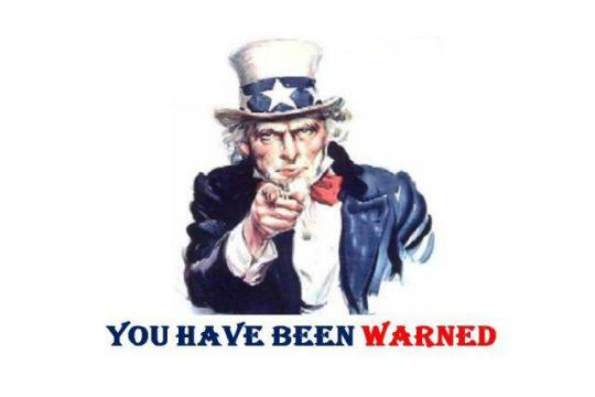 uncle sam warned