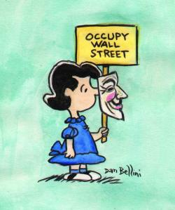 LUCY AND FRIENDS OCCUPY WALL STREET , AND THE WHOL