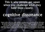 cognitive dissonance is