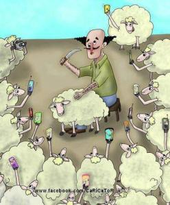 sheeples with phones