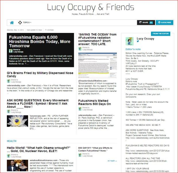 Lucy Occupy & Friends ... see, share, subscribe  http://paper.li/LucyOccupy/1375548394