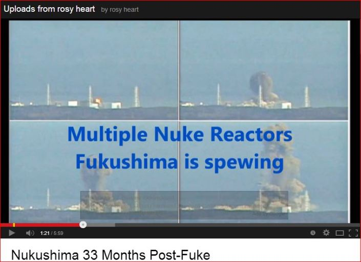 Fukushima is spewing   Rosy Heart  Nukushima
