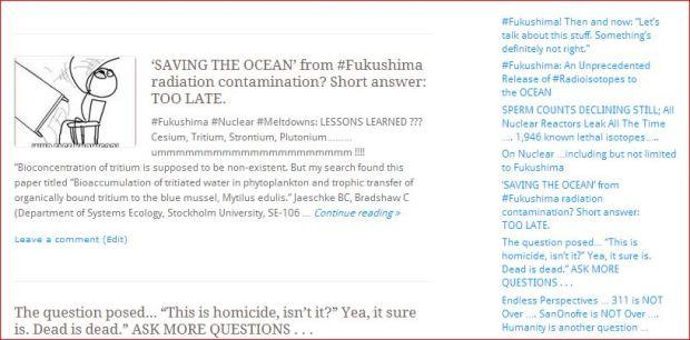 ARLATT  Saving the Ocean from Fukushima  Short Answer