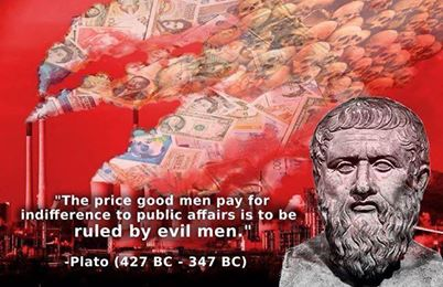 PLATO The price good men pay for indifference