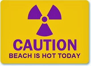 CAUTION BEACH IS HOT TODAY