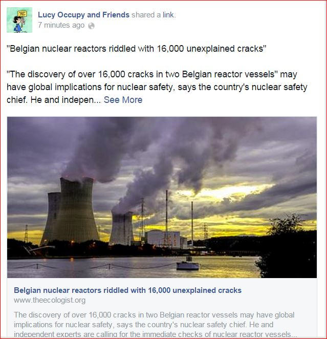 Belgian nuclear reactors riddled with 16000 unexplained cracks