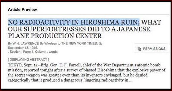 HIROSHIMA RADIOACTIVITY