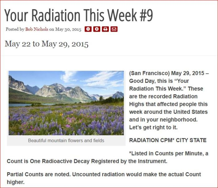 YOUR RADIATION THIS WEEK #9 #9 #9
