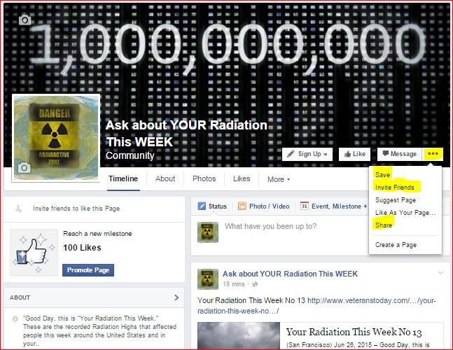 ASK ABOUT YOUR RADIATION THIS WEEK ON FB