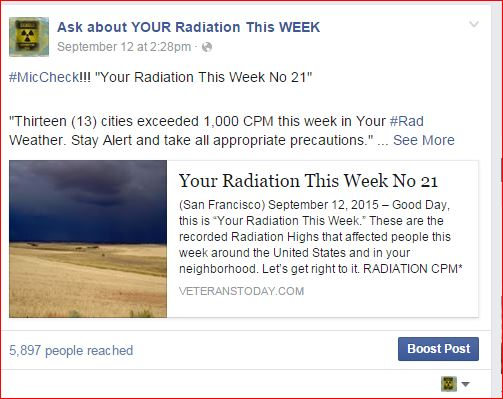 ASK ABOUT YOUR RADIATION THIS WEEK NO 21