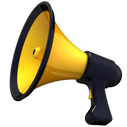 Megaphone News announcement. 3D render (Hi-Res)