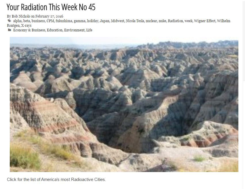 your radiation this week no 45